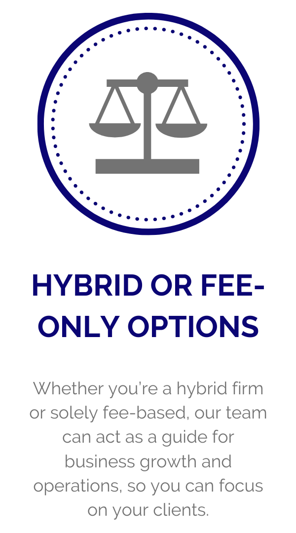 Hybrid or Fee-Only Options